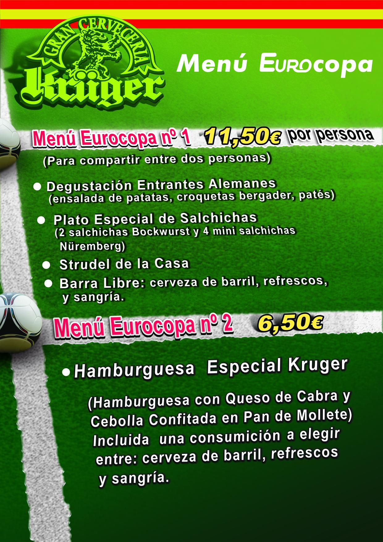Menu kruger Eurocopa 2012