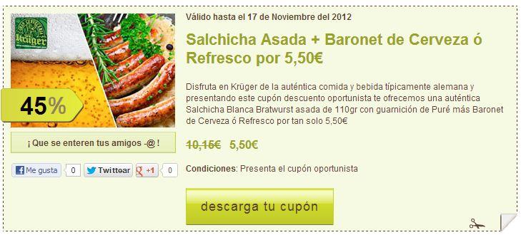 Restaurante alemán Madrid promoción