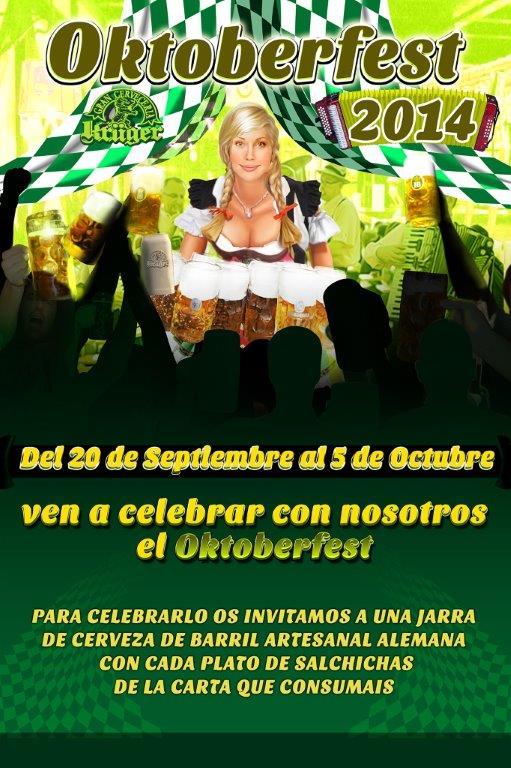 Celebra el Octoberfest en el restaurante Krüger