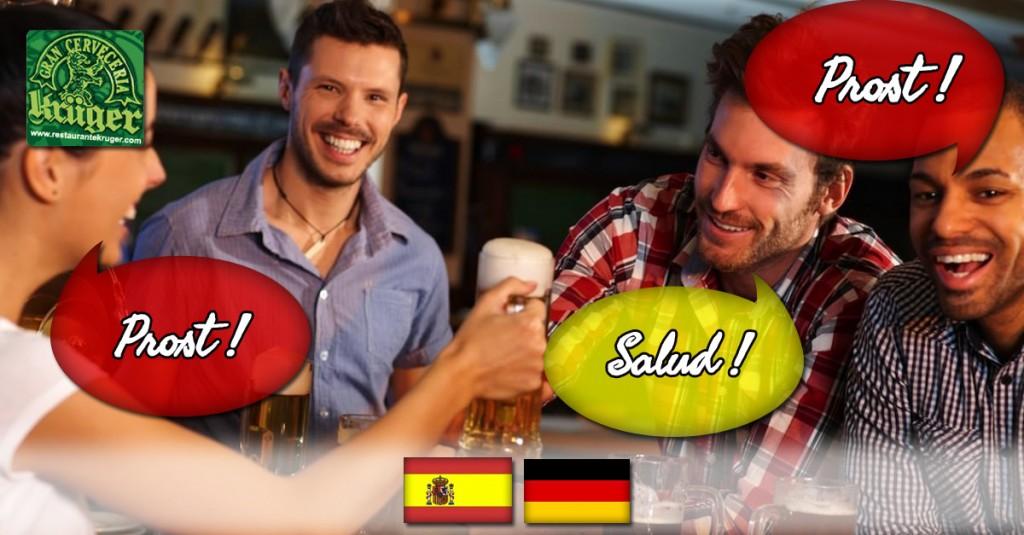 Intercambios alemán-español en restaurante Krüger